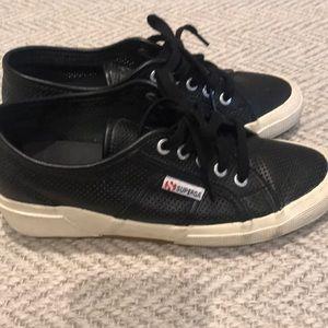 Shoes - Superga perforated black sneaker